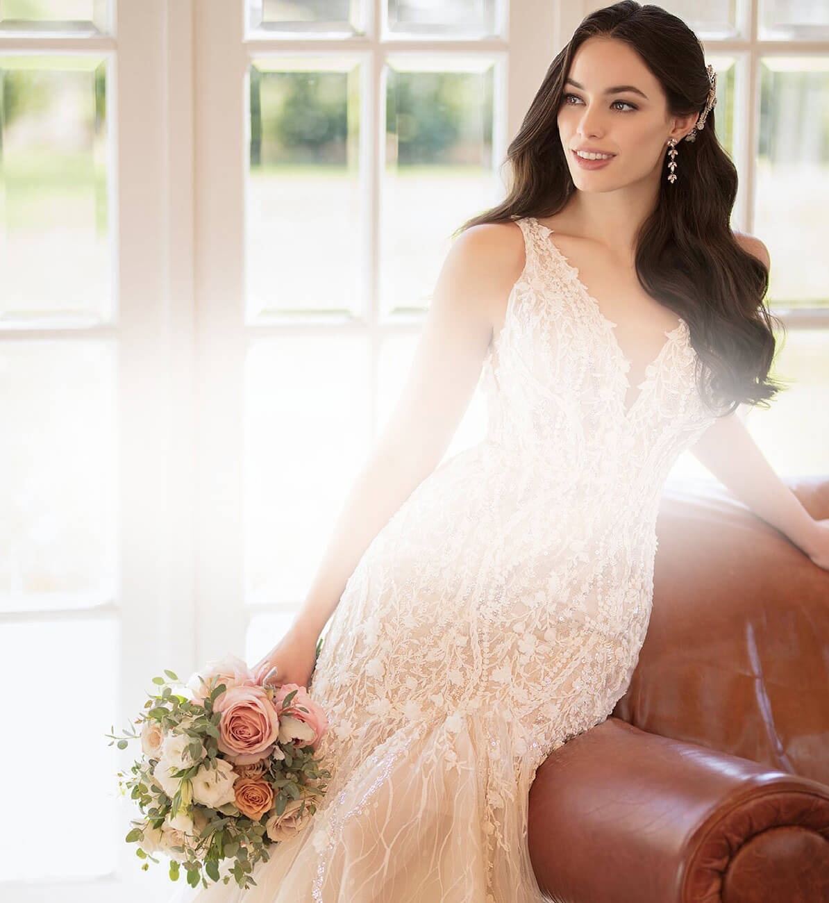 Photo of Model wearing a Fantastic Finds Bridal Dress