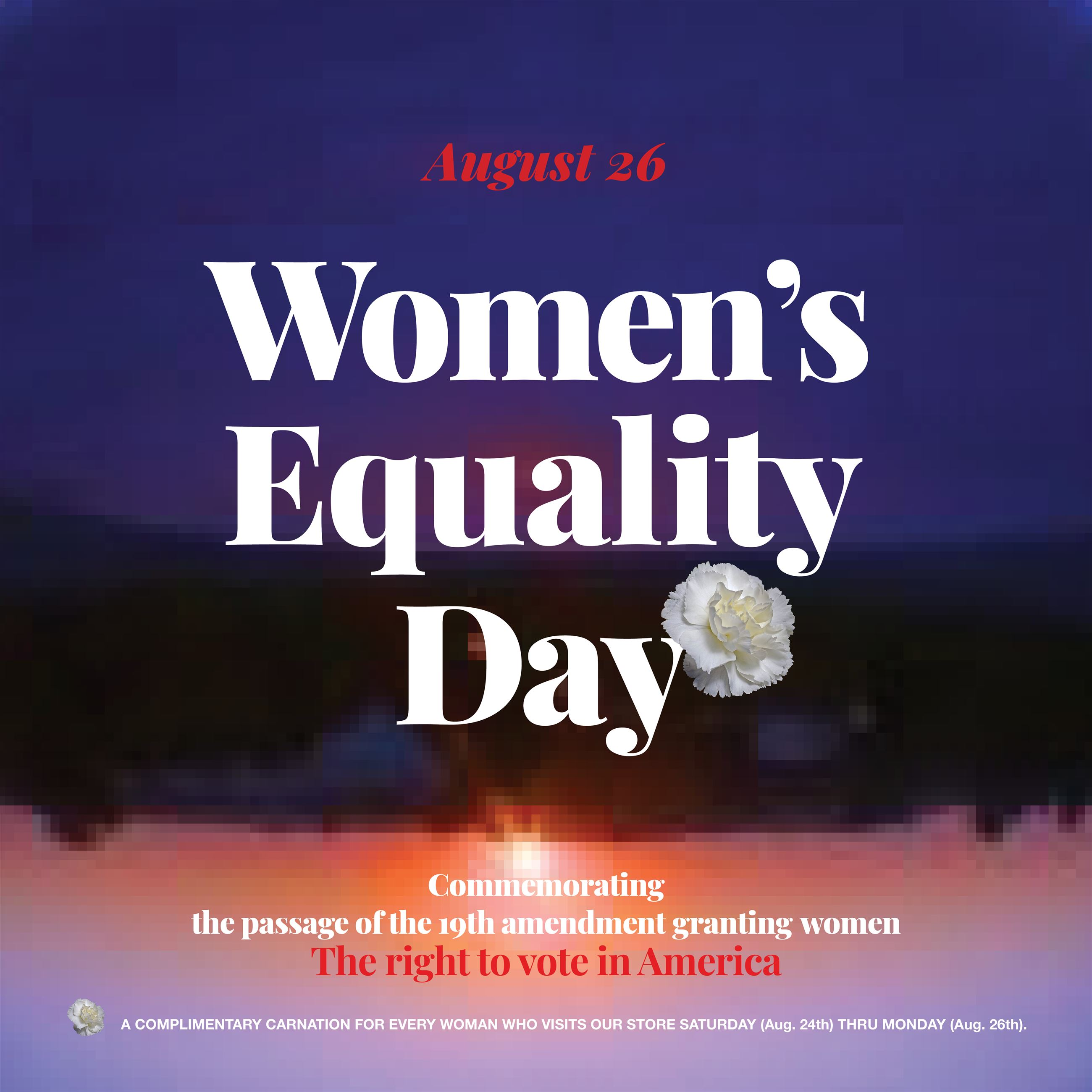 WOMEN'S EQUALITY DAY EVENT